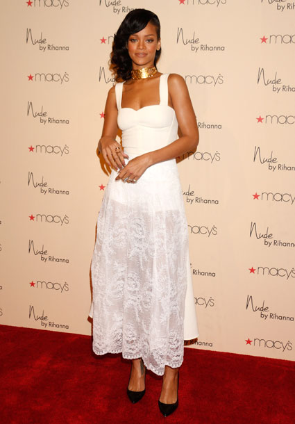 rihanna nude fragrance perfume launch macys