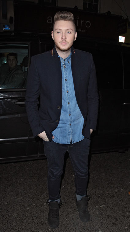 James Arthur and his eyelashes look fit at the X Factor wrap party - PICS