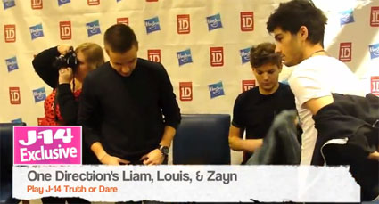 One Direction swap clothes and play truth or dare for J-14 - VIDEO