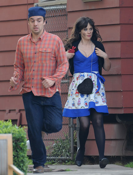 New Girl on set pictures