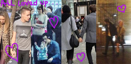 one direction in new york with girlfriends