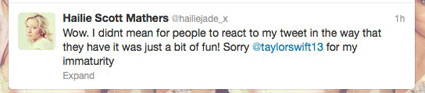 hailie mathers tweets taylor swift