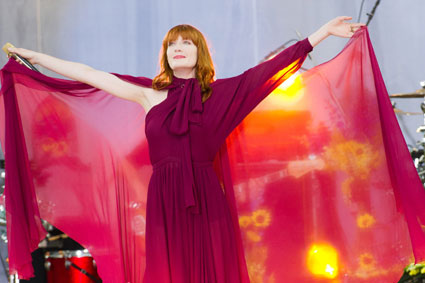 Florence and the Machine performing at Teenage Cancer Trust