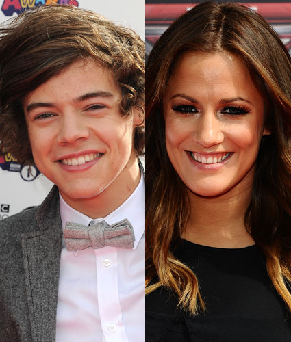 Caroline Flack with a mystery male
