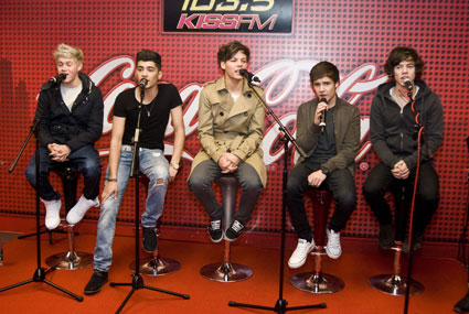 one direction at chicago's cola lounge for kiss fm