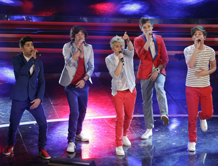 one direction at sanremo fesitval in italy