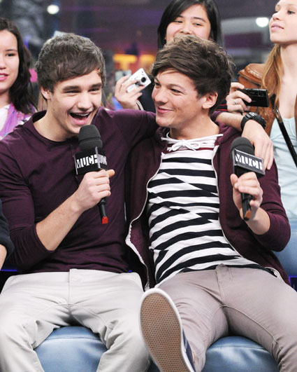 one direction's louis tomlinson and liam payne on muchmusic's new music live in canada