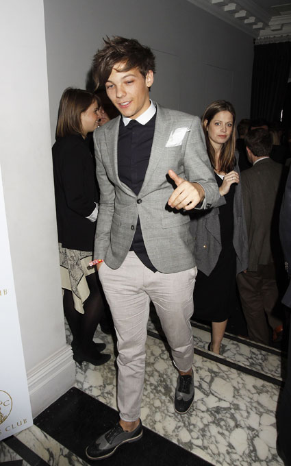 one direction's louis tomlinson at brits after party 2012