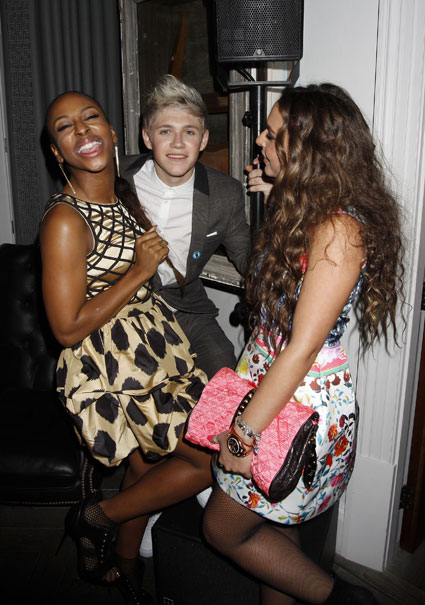 niall horan from one direction at brits 2012 after party with alexandra burke and chloe green