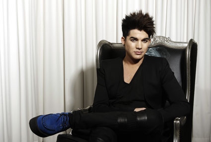 Adam Lambert posing for a portrait in New York