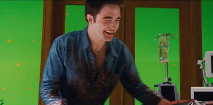 Robert Pattinson in breaking dawn birth scene blooper