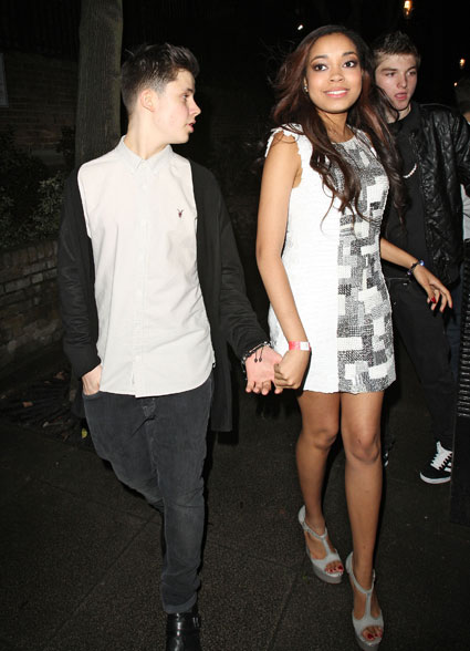 dionne bromfield holding hands on birthday night out