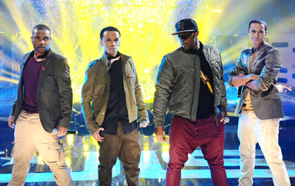 JLS performing on graham norton
