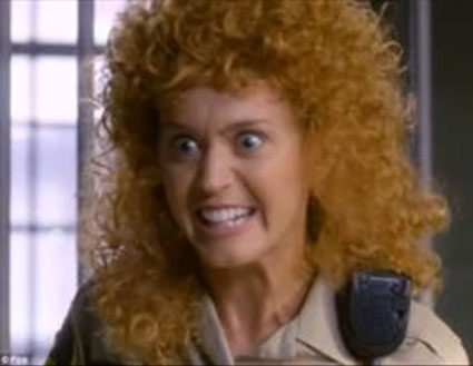 katy perry ginger curly hair in raising hope