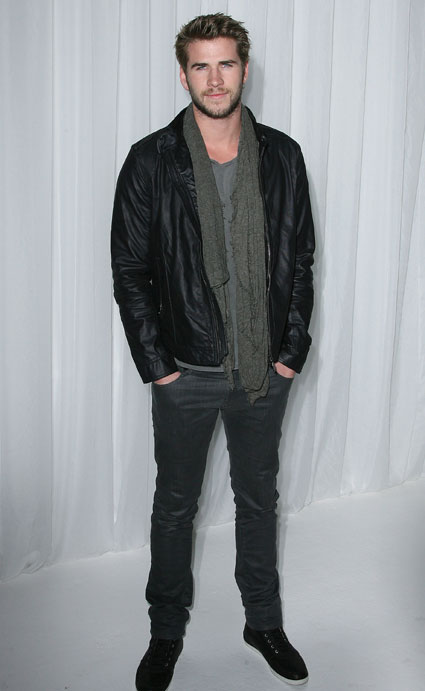 liam hemsworth at playstation party in LA