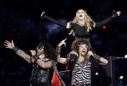 Madonna and LMFAO at super bowl half time show