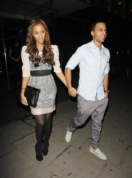 marvin humes from jls and rochelle wiseman out in london