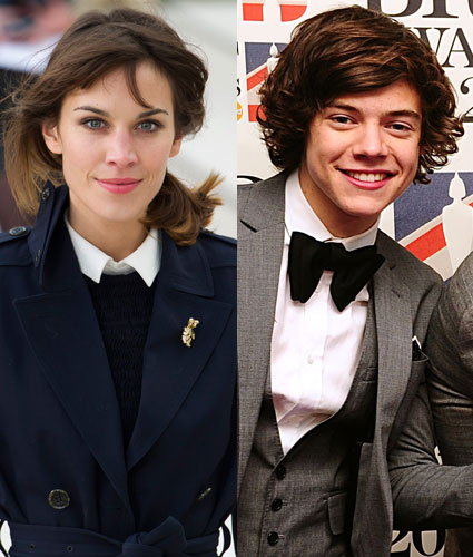 alexa chung denies shes dating harry styles from one direction