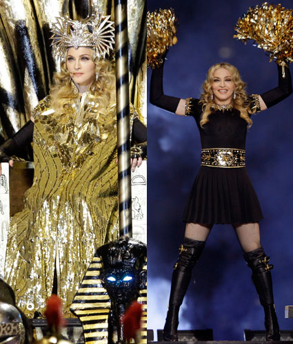 Madonna at the super bowl 2012