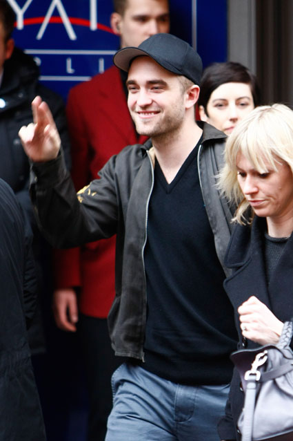 robert pattinson outside bel ami press conference at berlin international film festival