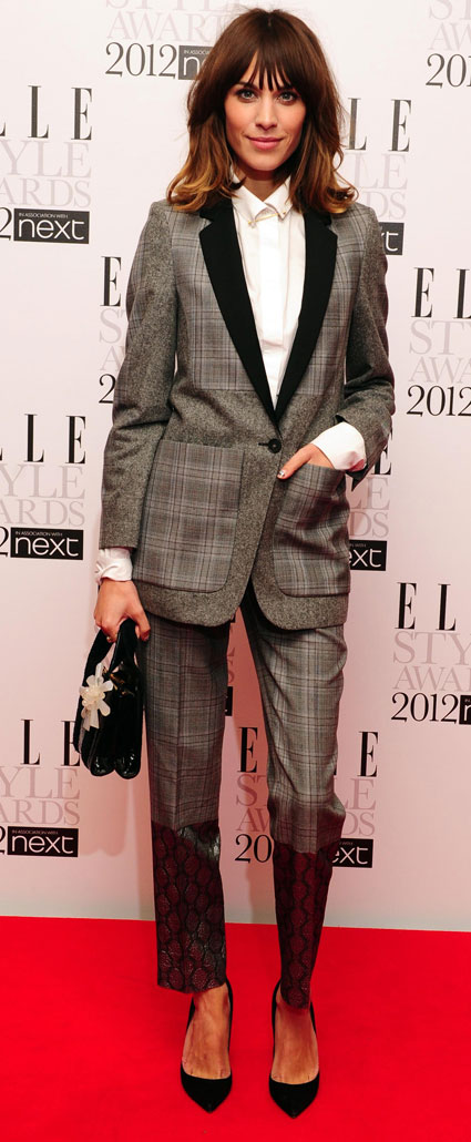 alexa chung at elle style awards 2012
