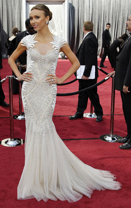 giuliana rancic at 2012 oscars