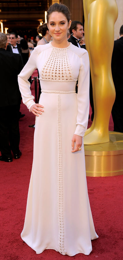 shailene woodley at 2012 oscars