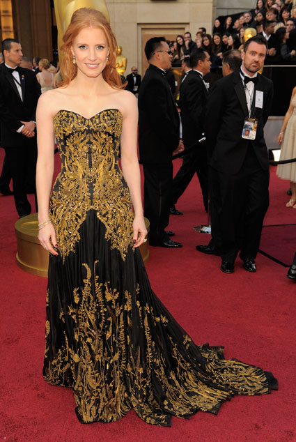 jessica chastain at 2012 oscars