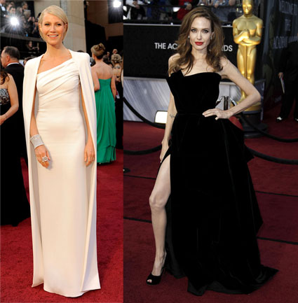 geyneth paltrow and angelina jolie are best dressed at 2012 oscars