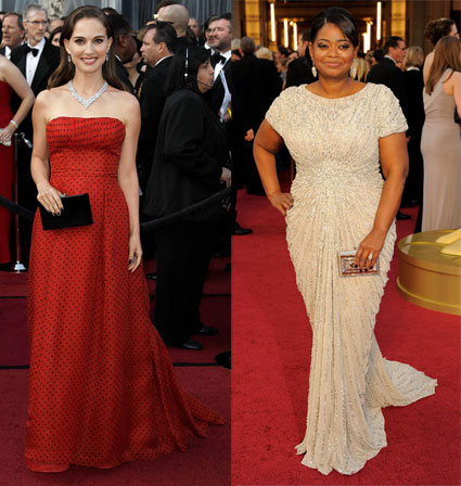 octavia spencer and natalie portman at 2012 oscars