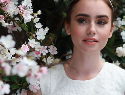 lily collins cover shoot for seventeen