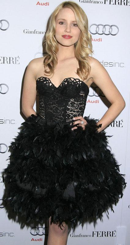 Dianna Agron Golden Globes 2010. fashionista Dianna Agron.