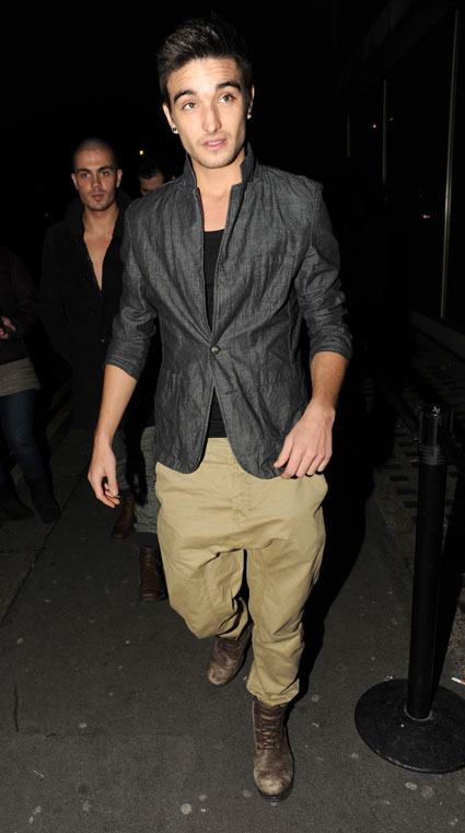 Tom Parker from boyband The Wanted on a night out