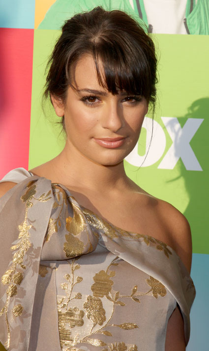 lea michele hair updo. lea michele hair up.