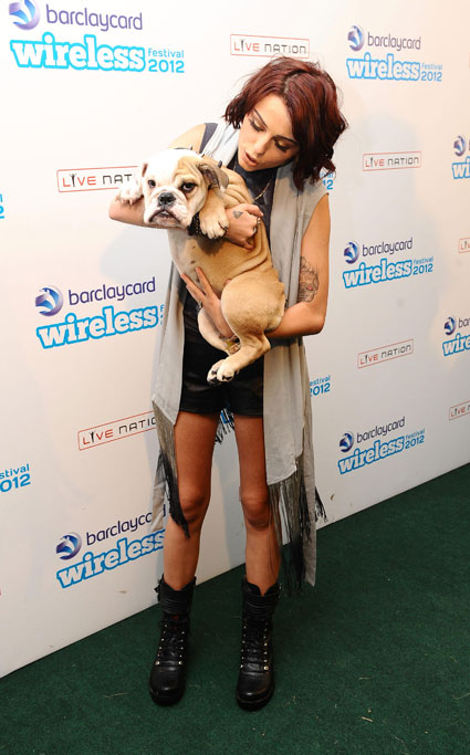Cher Lloyd and her dog