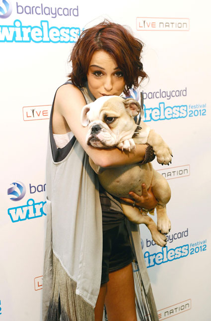 Cher Lloyd and her dog at Wireless