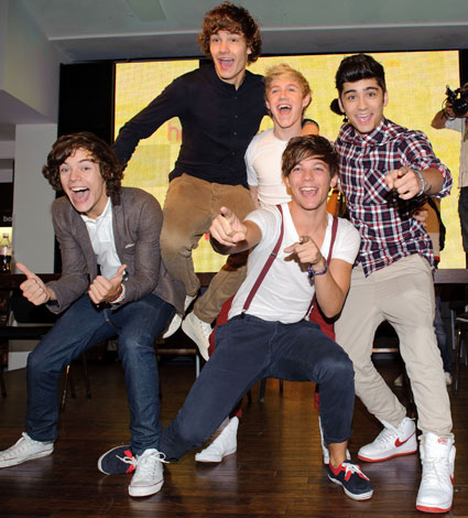 One Direction met The Wanted in a massage parlour