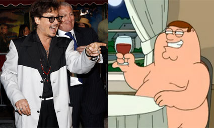 Johnny Depp Family Guy