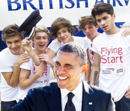 one direction and barack obama