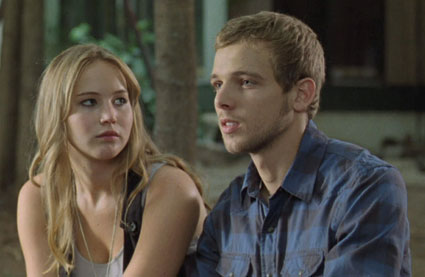 jennifer lawrence and max thieriot in house at the end of the street