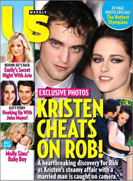 kristen stewart cheats on robert pattinson