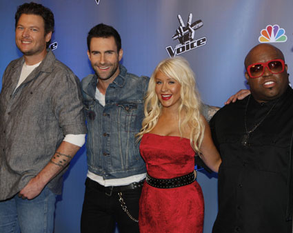 the voice christina aguilera team. US talent show #39;The Voice#39;