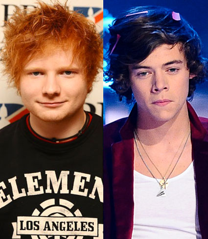Ed Sheeran reveals that he has slept on Harry Styles' floor
