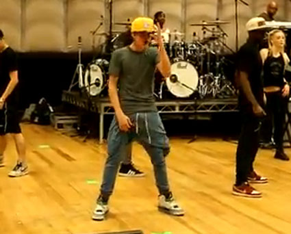... rehearsals for Believe take crotch grabbing to a whole new level