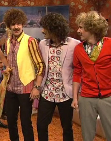 One Direction with facial hair