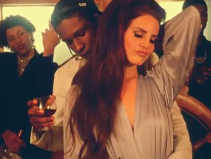 Lana Del Rey gets touchy-feely in her new video, National Anthem