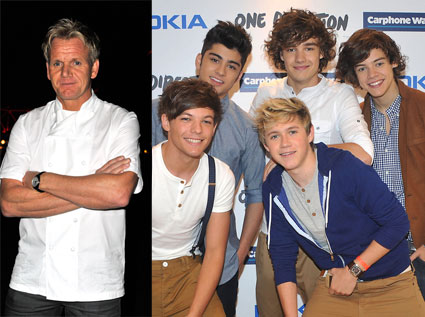 Gordon Ramsay treats One Direction to dinner