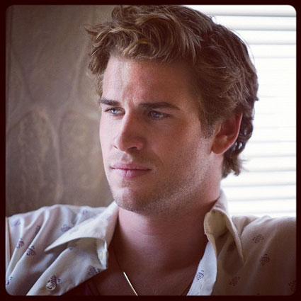 Liam Hemsworth behind the scenes