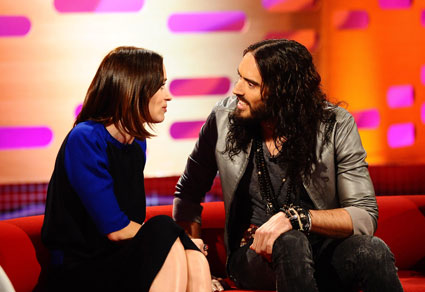 Russell Brand, paloma Faith and Emily Blunt on The Graham Norton show