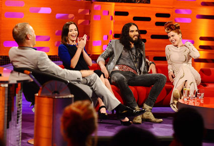 Russell Brand, Emily Blunt and Paloma Faith on The Graham Norton Show